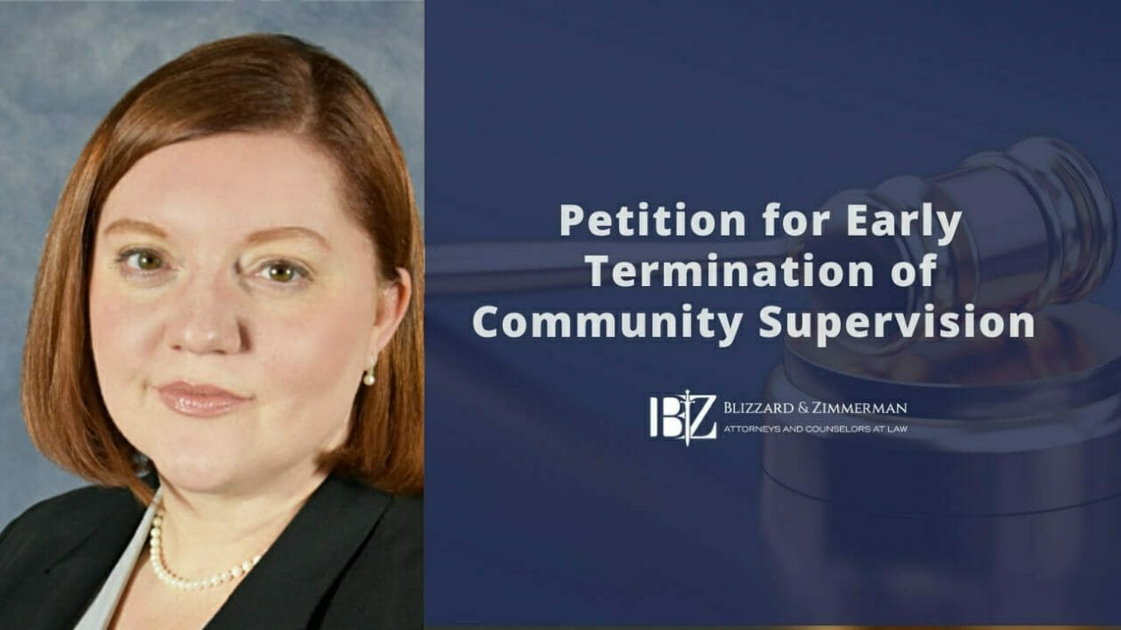 Petition for Early Termination of Community Supervision